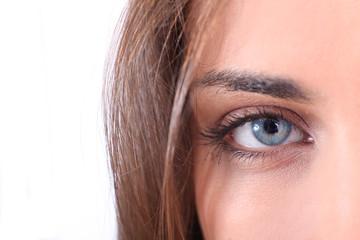 Closeup on beautiful blue eye