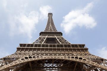 Eiffel tower low angle