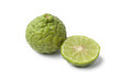 Whole and half Kaffir lime