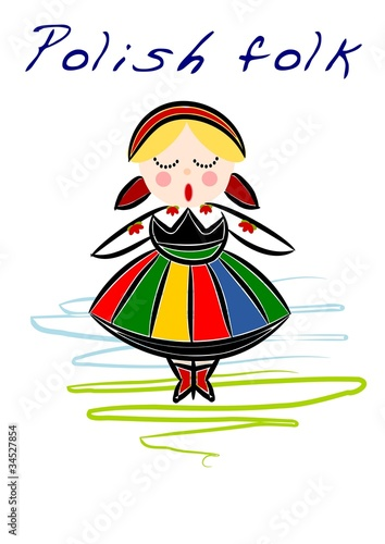Polish regional folk - vector - 34527854