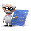 3d Mad Scientist displays his solar panel