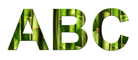 Alphabet bambou ABC