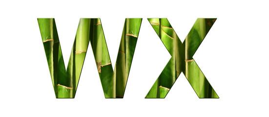 Alphabet bambou WX