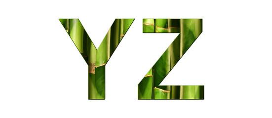 Alphabet bambou YZ