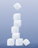 sugar cube tower