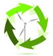 Wind mill wind power illustration design