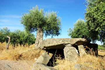 Megalithic monument near Monsaraz,Portugal.