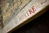 Atelier, peintre, architecture, studio, mur, maison, pierre poster