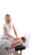 canvas print picture Back massage