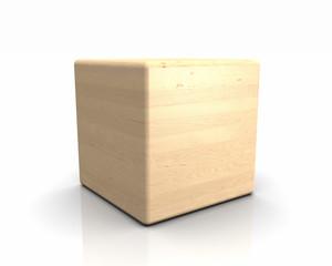 3D Holzwürfel abgerundet - Birke Europäisch