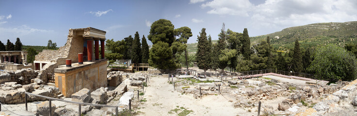 Panoramic composition of Cnossos (Crete)
