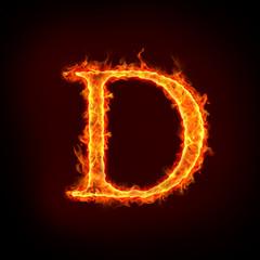 fire alphabets, D