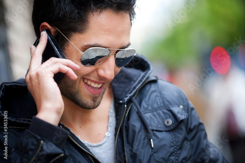 Man on the phone