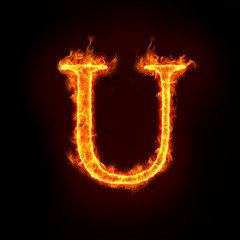 fire alphabets, U