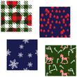 Four Matching Christmas Patterns
