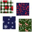 Four Matching Christmas Patterns