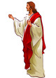 Side view of Jesus Christ standing