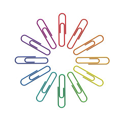 Paperclips color wheel 3d