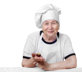 Senior woman cook