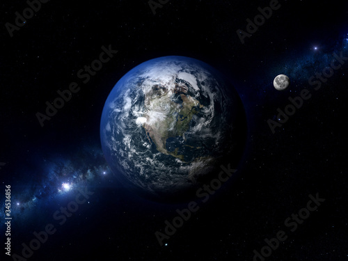 Earth Moon North America