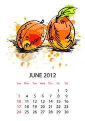Calendar with fruit for 2012