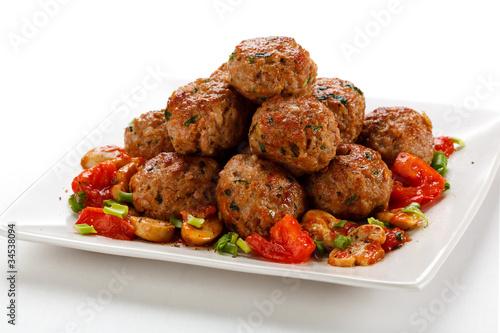 Roasted meatballs - 34538094