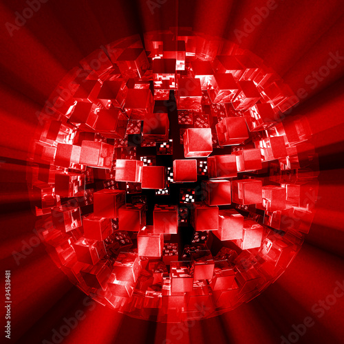 Lightcubes discoball red black