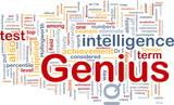 Genius intelligence background concept poster