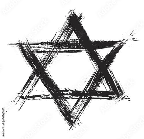 Poster Judentum Stern Zeichen Symbol Symbol Pixteria