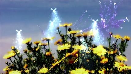 Hadas en las flores
