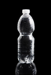 Plastic bottle of water with