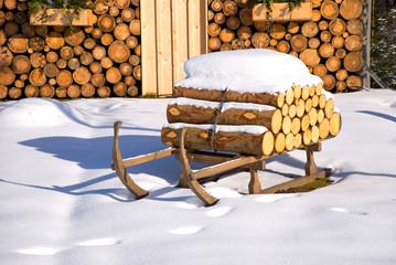 winter hut christmas