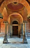 Old door among columns