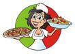 Pizza Girl Presenting
