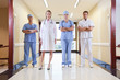 Team of doctor and nurse standing