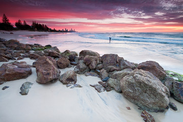 australian seascape at dawn