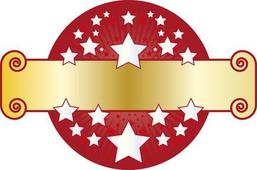 Moldura banner estrelas