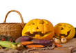 Halloween pumpkin and vegetables