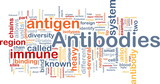 Antibodies immunity background concept poster