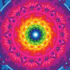 rainbow sun mandala