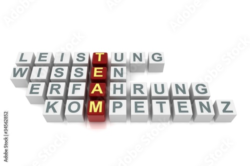 Team-Würfel Rot weiß