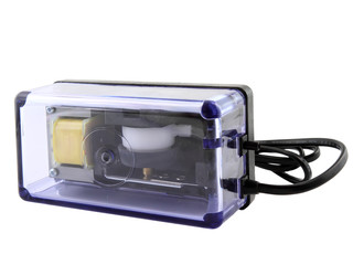 Aquarium air compressor (pump)on white