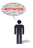 Paper Man with motivation Bubble poster