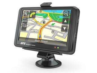Navigation system. Gps. 3d