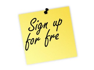 sign up post it