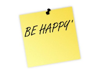 be happy post it
