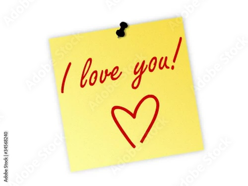 i love you post it