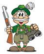 Leinwanddruck Bild - Hunters Equipment