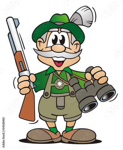 Leinwanddruck Bild Hunters Equipment
