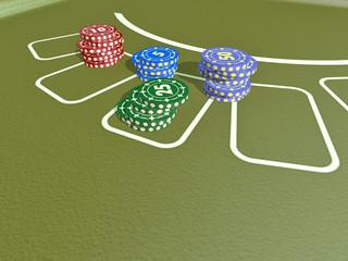 Poker Chips und Karten 3